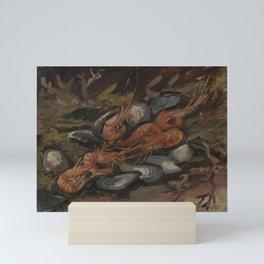 Prawns and Mussels Mini Art Print