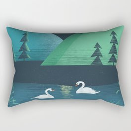 Moonlight Swim Rectangular Pillow