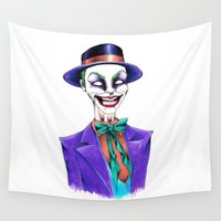 joker Wall Tapestries featuring JOKER by ReadThisVA