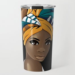Gele the African head wrap  Travel Mug