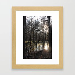 shadows & reflections Framed Art Print