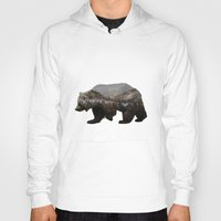 california Hoodies featuring The Kodiak Brown Bear by Davies Babies