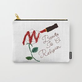BeautyIsAReligion `Rose Lippy` Carry-All Pouch