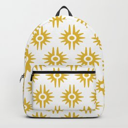 Mid Century Modern Bang Pattern 272 Must Yellow Backpack