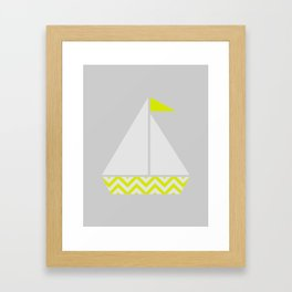 Boat with Background Framed Art Print