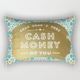 Cash Money – Mint & Gold Palette Rectangular Pillow