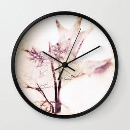 fallen leaf carries memories of tree Wall Clock