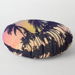 palm tree Floor Pillow