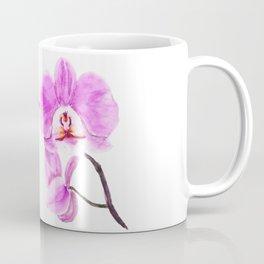 pink orchid flower watercolor painting Coffee Mug