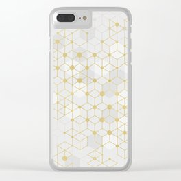 Deluxe Geometric Clear iPhone Case