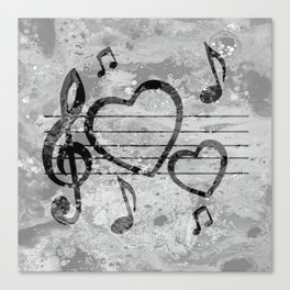 Colorful art Love Music 3 Canvas Print