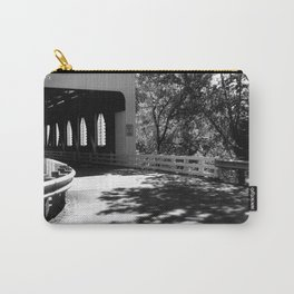 Covered Bridge in Black and White Carry-All Pouch
