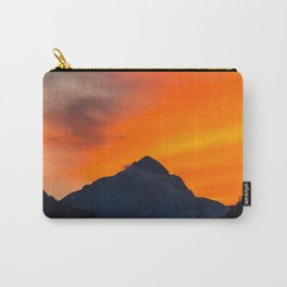 Stunning vibrant sunset behind mountain Carry-All Pouch