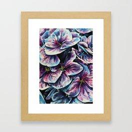 purple flowers watercolor art Framed Art Print