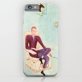 "Florine Stettheimer ""Portrait of Marcel Duchamp and His Alter Ego Rrose Sélavy"" iPhone Case"