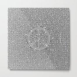 Ultimate peace maze Metal Print