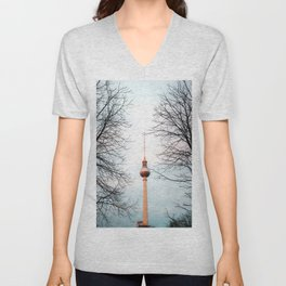 The Television Tower, Berlin Unisex V-Neck
