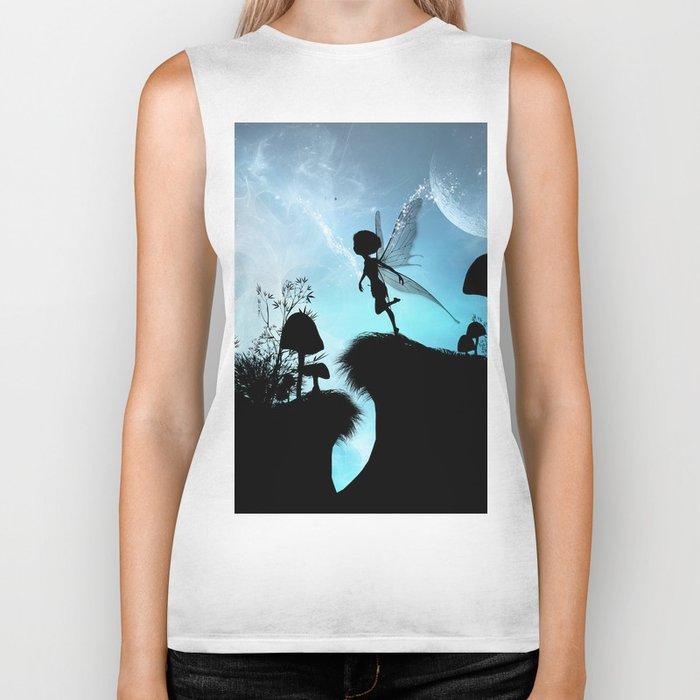 Fairy silhouette Biker Tank