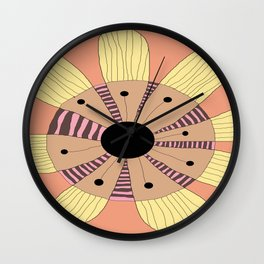 FLOWERY MARIA  / ORIGINAL DANISH DESIGN bykazandholly Wall Clock