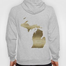 Michigan gold foil state map Hoody