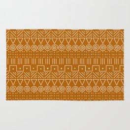 Mudcloth Style 1 in Orange Rug