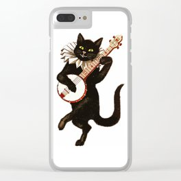 Black Halloween Cat for Decor and T Shirts Clear iPhone Case