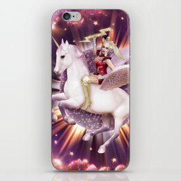 Andora: Drag Queen Riding a Unicorn iPhone Skin