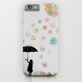 Colorful snow in Winter iPhone Case