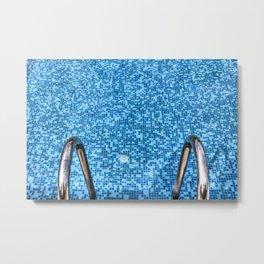 Summer Swimming Pool Metal Print