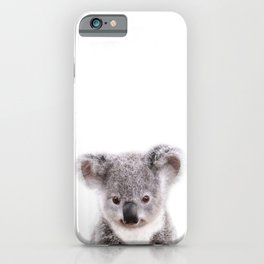 Baby Koala, Baby Animals Art Print By Synplus iPhone Case