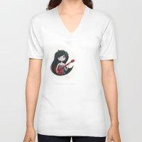 marceline V-neck T-shirts featuring Marceline by Chris Pioli