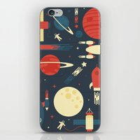 stickers iPhone & iPod Skins featuring Space Odyssey by Tracie Andrews