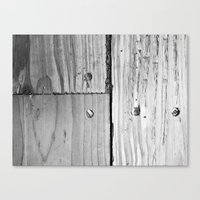 wooden Canvas Prints featuring WOODEN  by mark jones