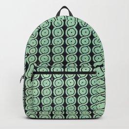 Green Guilloche Pattern Backpack
