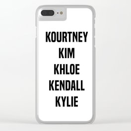 Kardashian Sisters Clear iPhone Case
