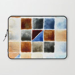 Color Chart - Burnt Sienna (W&N) and Cerulean Blue (DS) Laptop Sleeve