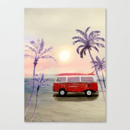Beach Van Canvas Print