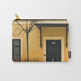 Brown & Yellow Budapest Facade Carry-All Pouch
