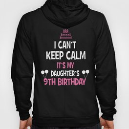 9th Birthday girl t-shirt 9 years old party gift Hoody