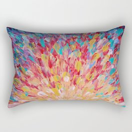 SPLASH - WOW Dash of Cheerful Color, Bold Water Waves Theme, Nature Lovers Modern Abstract Decor Rectangular Pillow