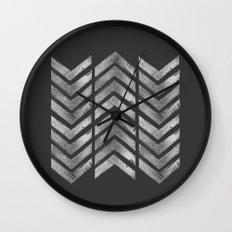 STAMPS SERIES N3 HERRINGBONE BLACK Wall Clock