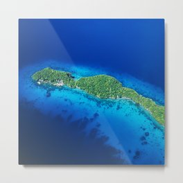Romantic, Secret Island in Palau: Heaven's View Metal Print