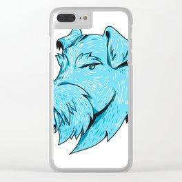 Bingley Terrier Head Drawing Clear iPhone Case