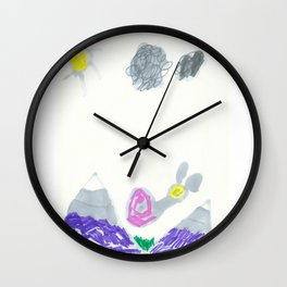 Slow Down the Mountain Snail Wall Clock