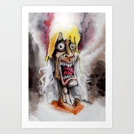 A Golden Cr[OWW!]n Art Print