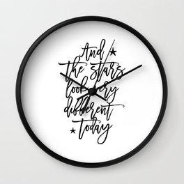 Song Lyrics,David Quote,Love Sign,Nursery Decor,Quote Prints,Wall Art,Home Decor,Printable Wall Clock