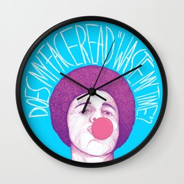 Does My Face Read Waste My Time Wall Clock