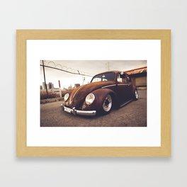 OLD TUNED CAR Framed Art Print