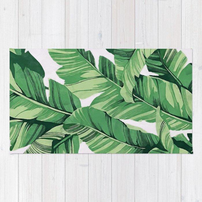 Tropical Banana Leaves V Rug By Catyarte Society6