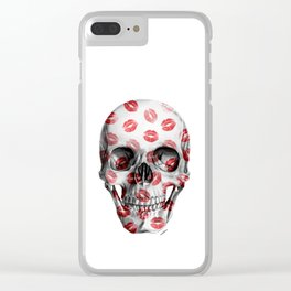 Kisses Skull Clear iPhone Case